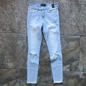 Abercrombie Light Wash Skinny Distressed Jeans